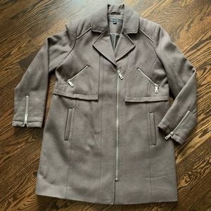 Kenneth Cole Wool Blend Coat - Brown Size 14